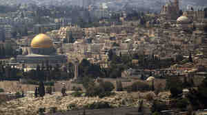 The Dome of the Rock Mosque in the Al-Aqsa Mosque compound, known by the Jews as the Temple Mount, is seen in Jerusalem's Old City. Israel closed the site to all visitors on Thursday following an assassination attempt on an right-wing Jewish activist.