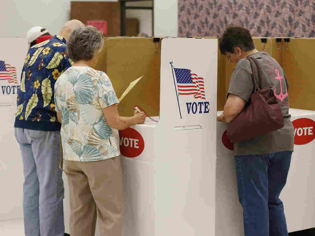 Voters participate in early voting this past June at the Oklahoma County Elections Board in Oklahoma City.