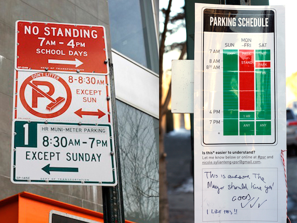 A Well-Designed Parking Sign Can Make Life Much Easier