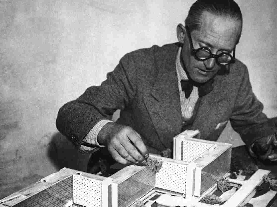 According to biographer Anthony Flint, Le Corbusier (seen here in an undated photo) once proposed razing Paris' historic Marais neighborhood in order to give the dilapidated district a fresh start.