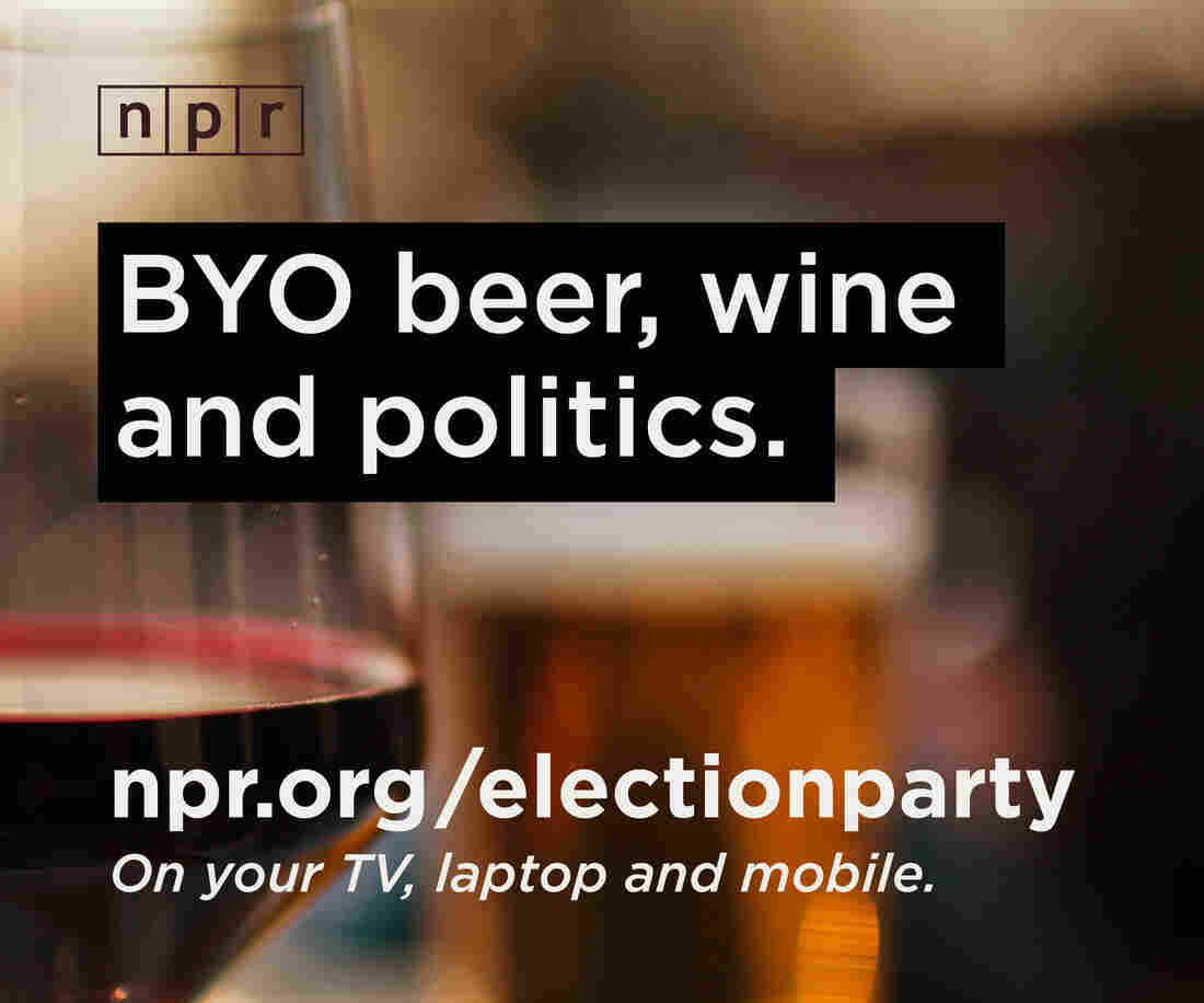 Join NPR on Tuesday night for a virtual election party. Host your own party and invite your friends.