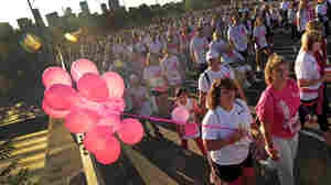 Women participate in a breast cancer fund-raising in Denver in 2011. Despite decades of awareness campaigns, the survival rate for women with metastatic breast cancer hasn't improved.