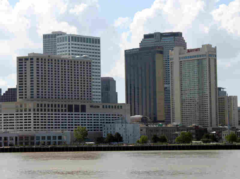 The New Orleans skyline including the Sheraton Hotel.