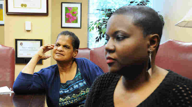 Debra Blackmon (left) was sterilized by court order in 1972, at age 14. With help from her niece, Latoya Adams (right), she's fighting to be included in the state's compensation program.