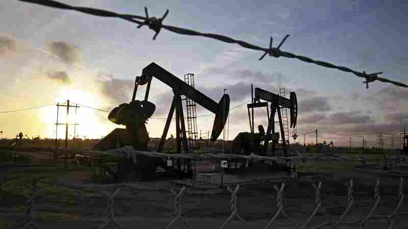 Pumpjacks at the Inglewood oil fields in California in March. Some of the most controversial methods of oil extraction, like fracking, oil sands production and Arctic drilling, are also expensive. That's made them le