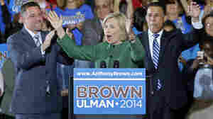 Former Secretary of State Hillary Clinton campaigned for Maryland Democratic gubernatorial candidate Anthony Brown (right) in October. President Obama and Michelle Obama have also campaigned in the state. This level of Democratic star power so late in the race is unusual in a reliably blue state.
