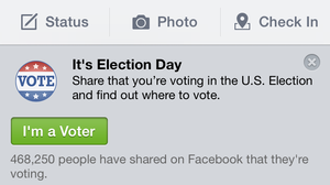 That 'I'm A Voter' App At The Top Of Your Newsfeed Actually Makes A Difference