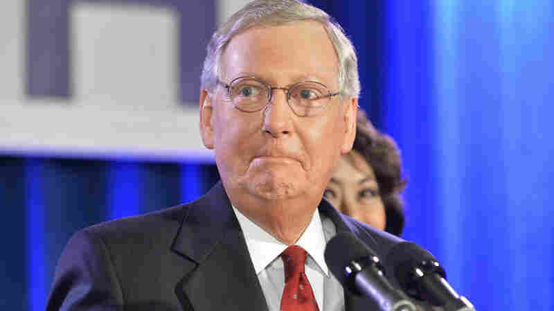 Senate Minority Leader Mitch McConnell says he sees issues where a Republican-led Congress can work with President Obama. McConnell won re-election Tuesday, as his party took control of the Senate.