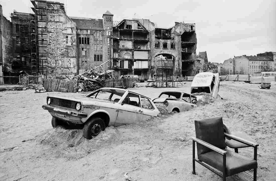 Tacheles, a squat in the central district of Mitte, 1990. Spots like this one often became clubs or art spaces in the years following German reunification.