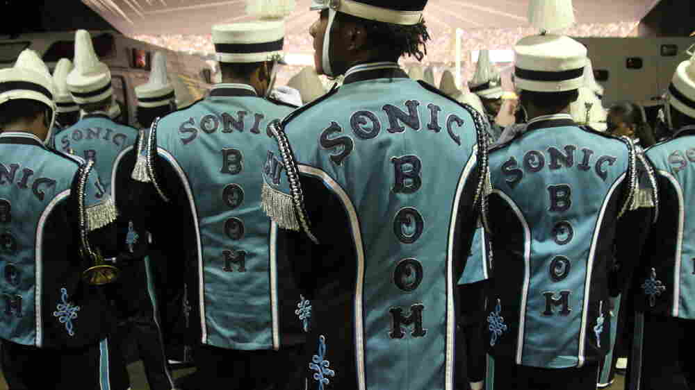 Drummer And Tuba Player Work To Stay Sharp For Band And College