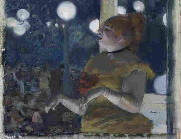 Edgar Degas' 1875 painting Au Café Concert: La Chanson du Chien is part of billionaire Jerry Perenchio's collection being donated to the Los Angeles County Museum of Art.