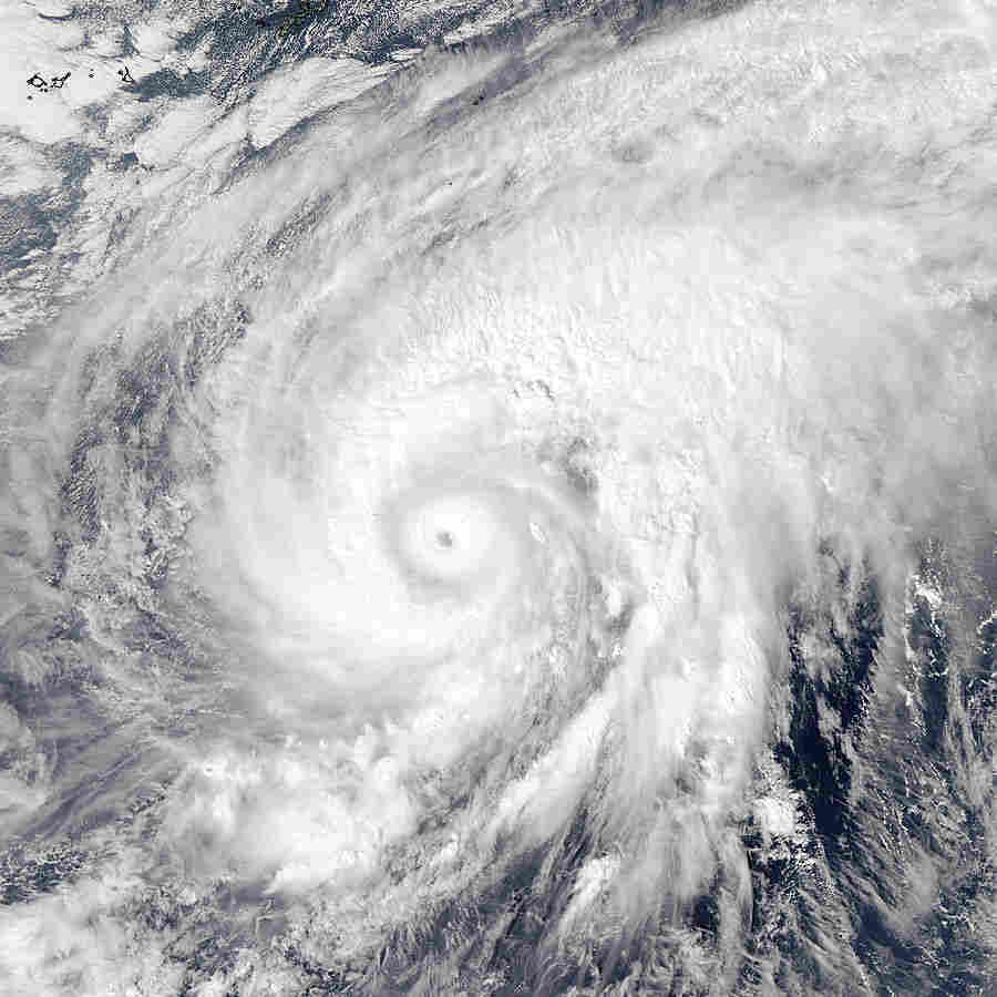 NASA's Aqua satellite captured this image of Super Typhoon Nuri after it developed an eye on Nov. 3.