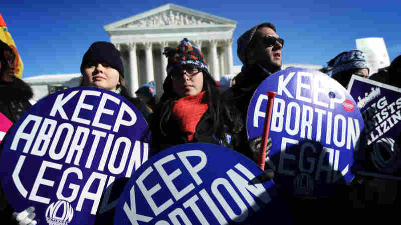 Abortion-rights supporters outside the Supreme Court in January for the annual March for Life. This week North Dakota and Colorado struck down ballot measures restricting abortion, while Tennessee passed an initiative that may result in restricted rights.