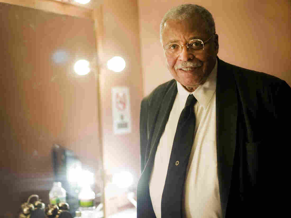 "James Earl Jones was born in Mississippi and grew up in Michigan. He was adopted by his grandparents and eventually developed a stutter. ""I'm still a stutterer,"" he says. ""I just work with it."""