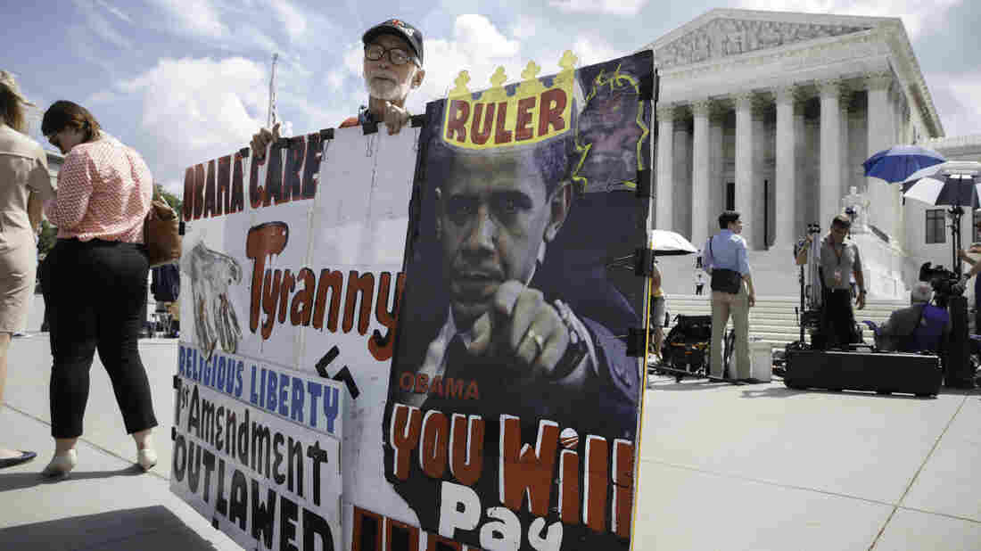 Time for a replay?: Protesters waited outside the Supreme Court for decisions in June.