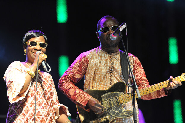 """Mariam and Amadou, both from Mali, add their voices to the song """"Africa Stop Ebola."""""""