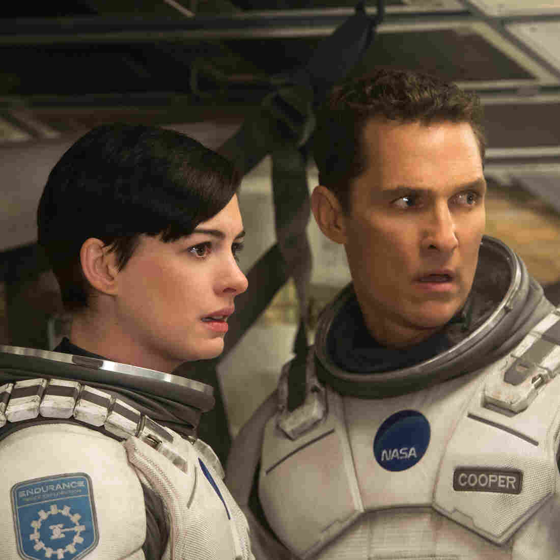 In Interstellar, Matthew McConaughey and Anne Hathaway are part of a team of explorers who have identified several potentially habitable planets accessible via wormhole.