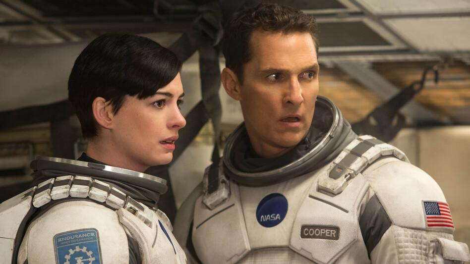 In <em>Interstellar</em>, Matthew McConaughey and Anne Hathaway are part of a team of explorers who have identified several potentially habitable planets accessible via wormhole. (Melinda Sue Gordon/Paramount Pictures)