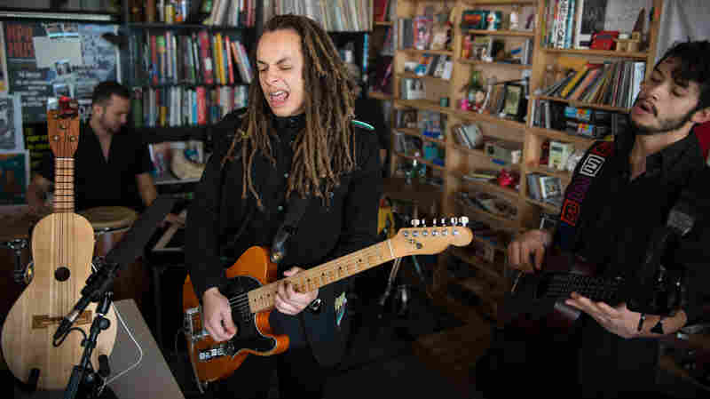 Tiny Desk Concert with Making Movies on October 9, 2014.