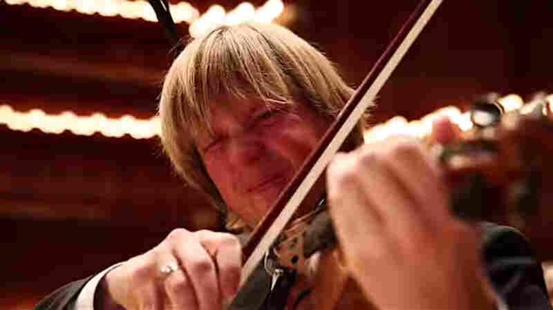 "Danish concertmaster Erik Heide plays ""Jalousie"" after downing an vividly hot pepper."