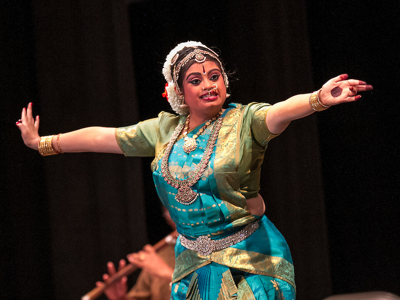 Hema Ramaswamy, a young Indian-American woman with Down syndrome, performs her arangetram, the public presentation of bharata natyam, a classical South Indian dance form.
