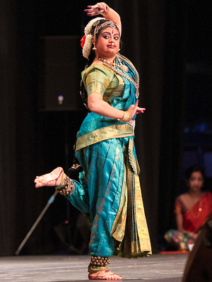 Hema Ramaswamy performs her arangetram, the public presentation of Bharata Natyam.