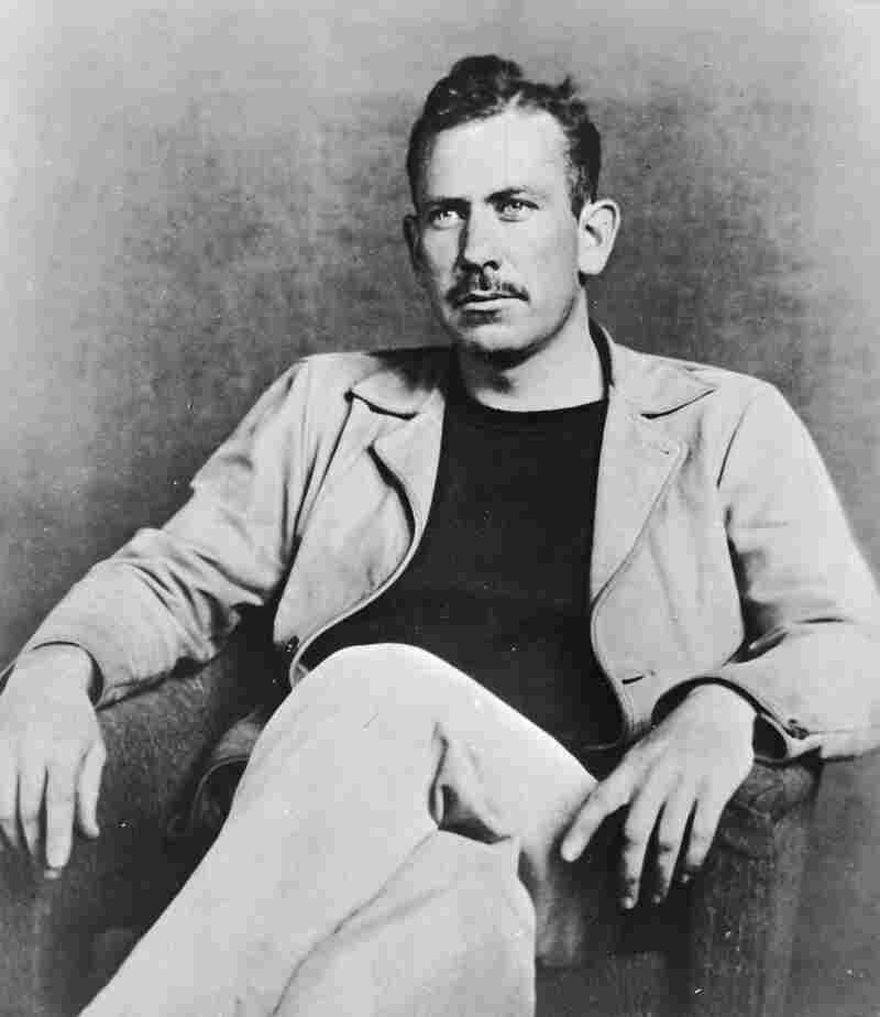 """John Steinbeck, here seen as a young man, sits for his portrait. Years later, his story """"With Your Wings"""" would be read on air — then disappear for decades."""