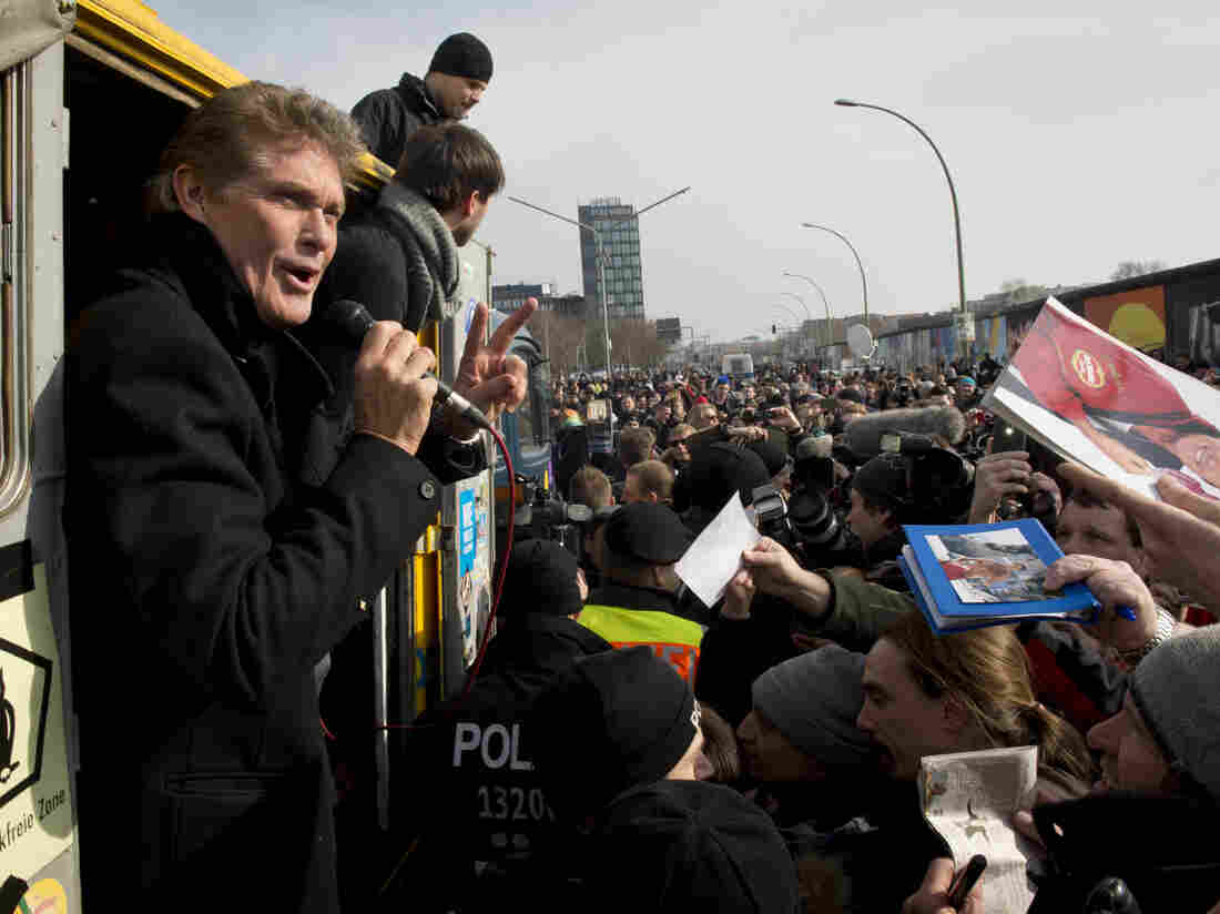 Actor David Hasselhoff returned to Berlin in 2013, this time to save the Wall — what's left of it.