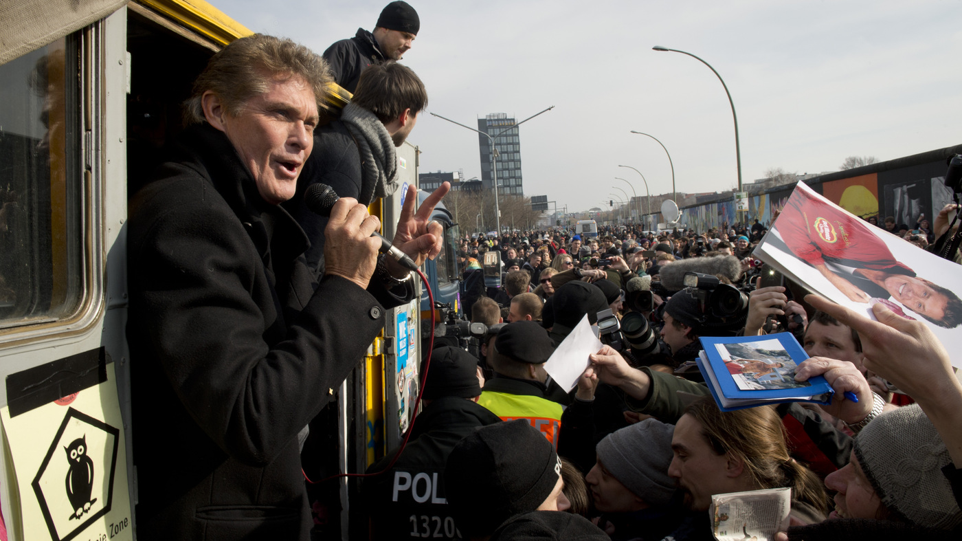 How Mr Hasselhoff Tore Down This Wall Npr