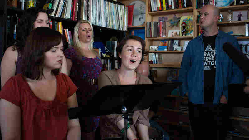 Tiny Desk Concert with Roomful Of Teeth October 6, 2014.