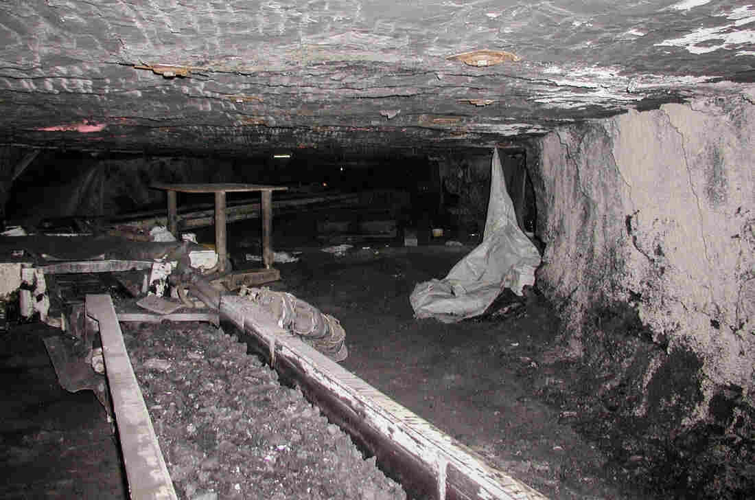 The underground site at the D&C coal mine where Rome Meade was crushed by a runaway trailer carrying 3 tons of cinder blocks.