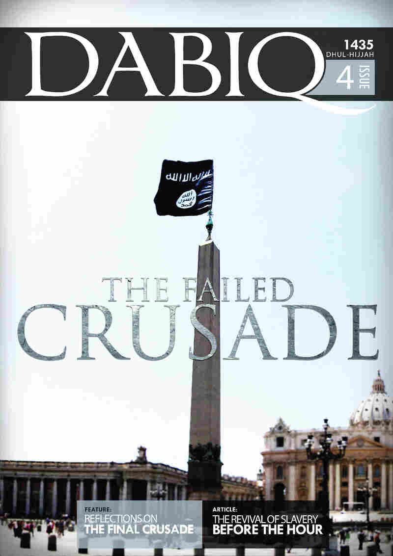 """The cover of the latest issue of Dabiq, the official Islamic State magazine. It includes a lengthy article on """"The Revival of Slavery,"""" which it endorses."""