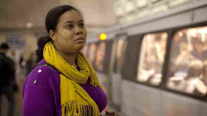 Noelle Johnson has a lengthy commute via bus and train to her job near Washington, D.C. She's been working toward her B.A. for nine years, and when she finally finishes, she says, she'll be able to afford to live closer to work.
