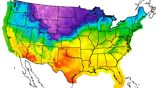 Arctic Front Blast Of Cold Air Hits Middle Of Us Heads East - Us-weather-service-map