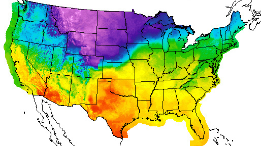 Arctic Front Blast Of Cold Air Hits Middle Of Us Heads East - Us-front-map