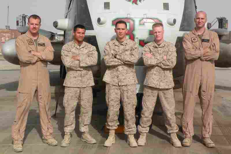 "Capt. Nathan McHone (far left) was a pilot with the Marines. ""He always wanted to fly,"" says his mother, Sylvia McHone. Joining the military gave him the chance to fly the very best equipment."