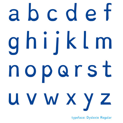 The Dyslexie font uses slight changes between similar letters to help keep dyslexic readers from confusing them.