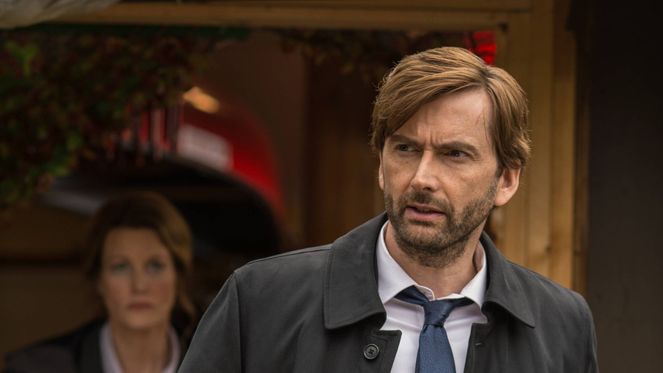 Scottish actor David Tennant stars as a grizzled detective in the BBC's <em>Broadchurch</em> and also the new American adaptation, <em>Gracepoint.</em> (Ed Araquel/FOX)