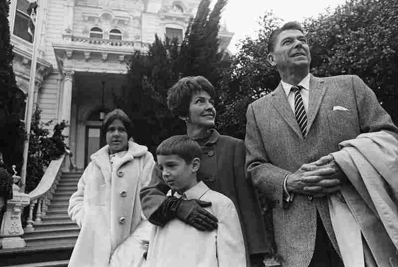 The California Republican governor-elect poses for pictures with his wife and children Ronald Jr. and Patricia outside the Executive Mansion in Sacramento, Calif., on Jan. 1, 1967.