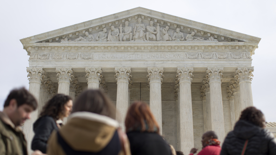 The question before the Supreme Court Wednesday is: Did Alabama's Republican-dominated Legislature rely predominantly on race or on partisanship when it was redrawing its districts? (Carolyn Kaster/AP)