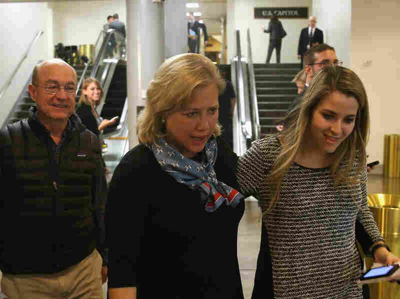 Democratic U.S. Sen. Mary Landrieu of Louisiana walks through the U.S. Capitol on Wednesday. Congress returned to work following last week's midterm elections break. Landrieu is locked in a runoff with Republican Rep. Bill Cassidy.