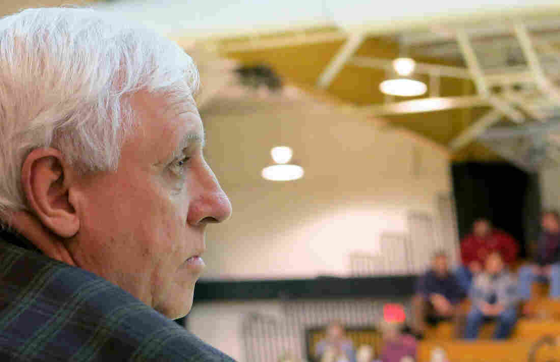 Coal mine owner Jim Justice coaches from the sidelines as the Greenbrier East High School Lady Spartans play.