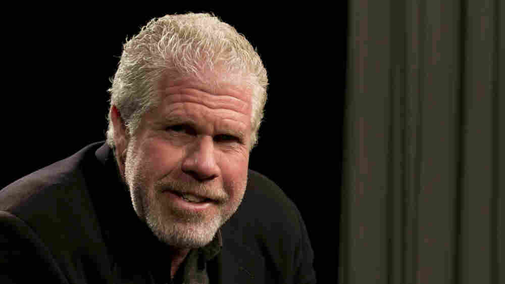 Ron Perlman poses for photos before an interview in New York in September 2014.