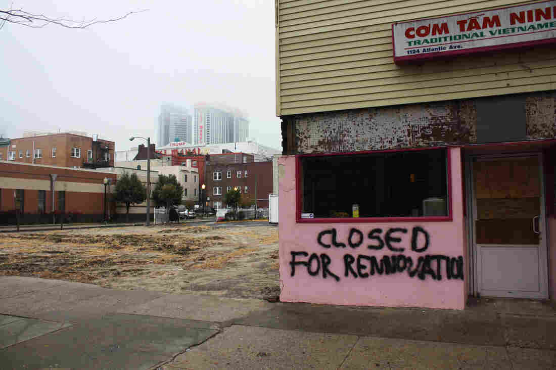 Layoffs and closures have left their mark across Atlantic City, with boarded up businesses and restaurants lining the streets.