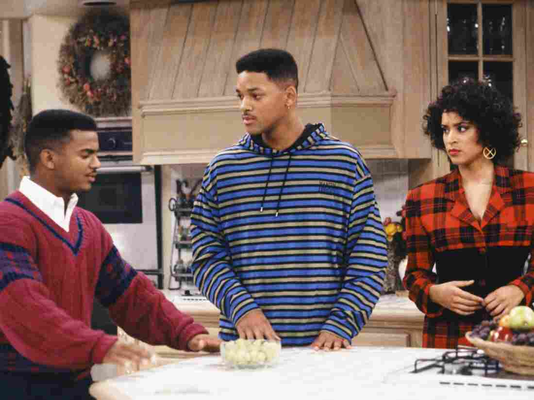 Alfonso Ribeiro (from left), Will Smith and Karyn Parsons on the set of The Fresh Prince of Bel-Air in 1991.