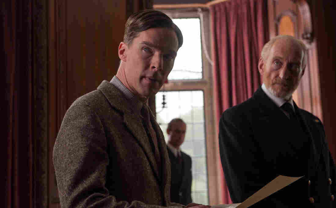 """Benedict Cumberbatch stars as British mathematician and scientist Alan Turing in The Imitation Game; Charles Dance plays Commander Denniston. Director Morten Tyldum says the movie is set up like a mystery — """"like a puzzle you're piecing together."""""""