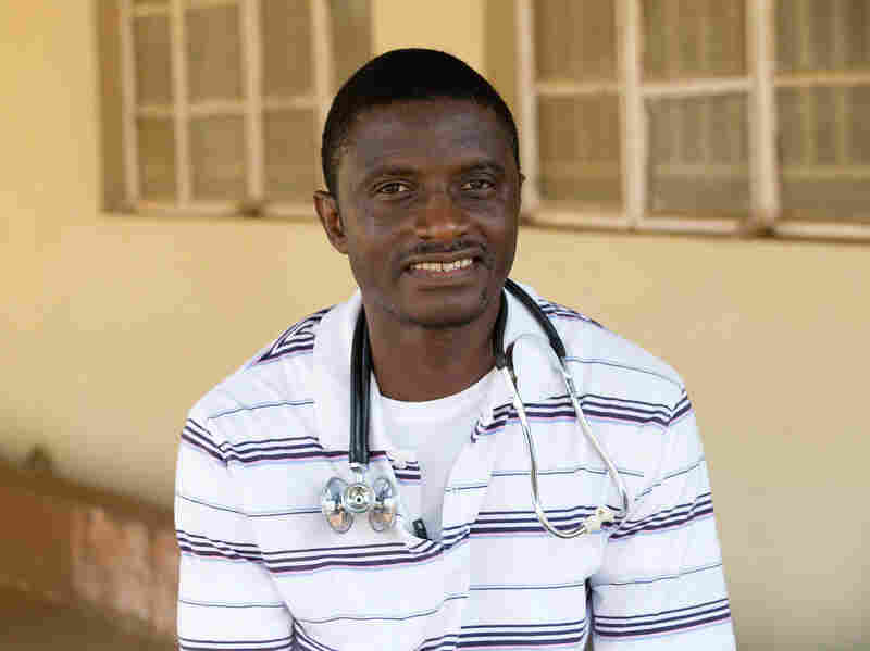 Dr. Martin Salia poses for a photo in April 2014 at the United Methodist Church's Kissy Hospital outside Freetown, Sierra Leone. Salia who was diagnosed with Ebola on Monday, landed at Eppley Airfield in Omaha, Neb., on Nov. 17, 2014, and was being transported to the Nebraska Medical Center.