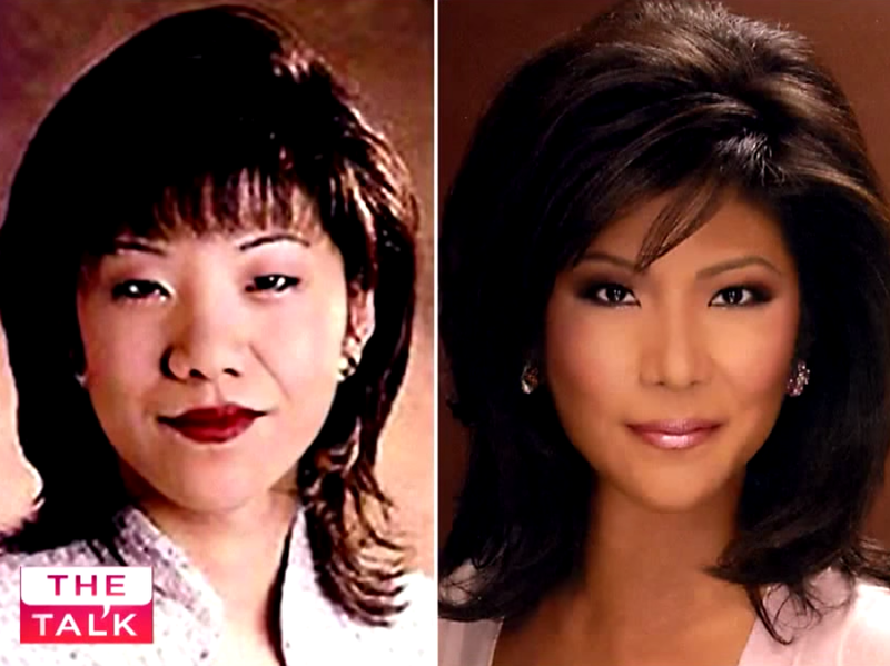 This is the image Julie Chen showed on The Talk when she revealed she'd had double eyelid surgery.