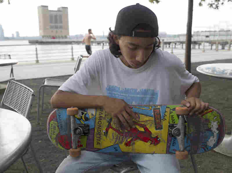 Because he's often babysitting his younger siblings and trying to keep his grades up, Jairo hardly has any time to do what he loves — skateboarding.