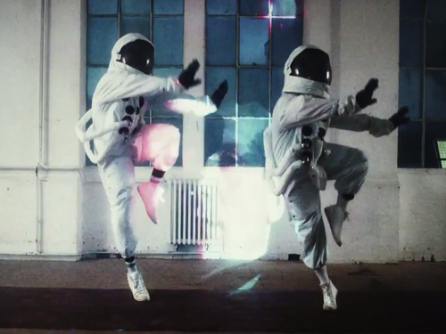 This is the best thing you'll watch all day: Astronauts with killer moves in a synchronized routine.